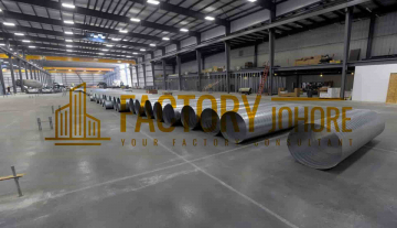 Johor Bahru Factory For Rent with 16ton Overhead Crane