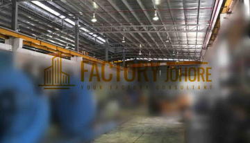 Nusajaya Factory For Rent Big Production with Overhead Crane Runway Power Substation