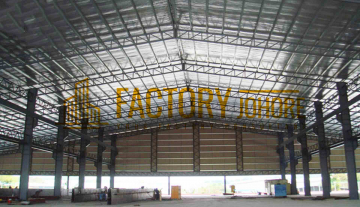 Senai Detached Factory For Rent with 6 Overhead Crane