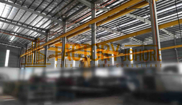 Johor Bahru Big Factory For Sale Freehold with Overhead Crane 80000sqft