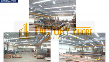 Kulai Detached Factory For Sale with 2 Overhead Crane