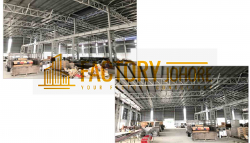 Senai Factory For Sale/Rent with Floor Loading 20kN/m2