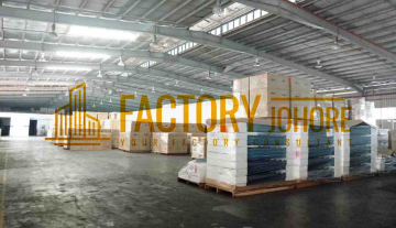Tebrau Detached Factory with High Tension Power For Sale