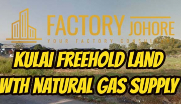 Kulai Freehold Land with Natural Gas Supply For Sale 10acres