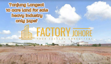 Tanjung Langsat 10 acres Heavy Industrial Land For Sale Only 34psf